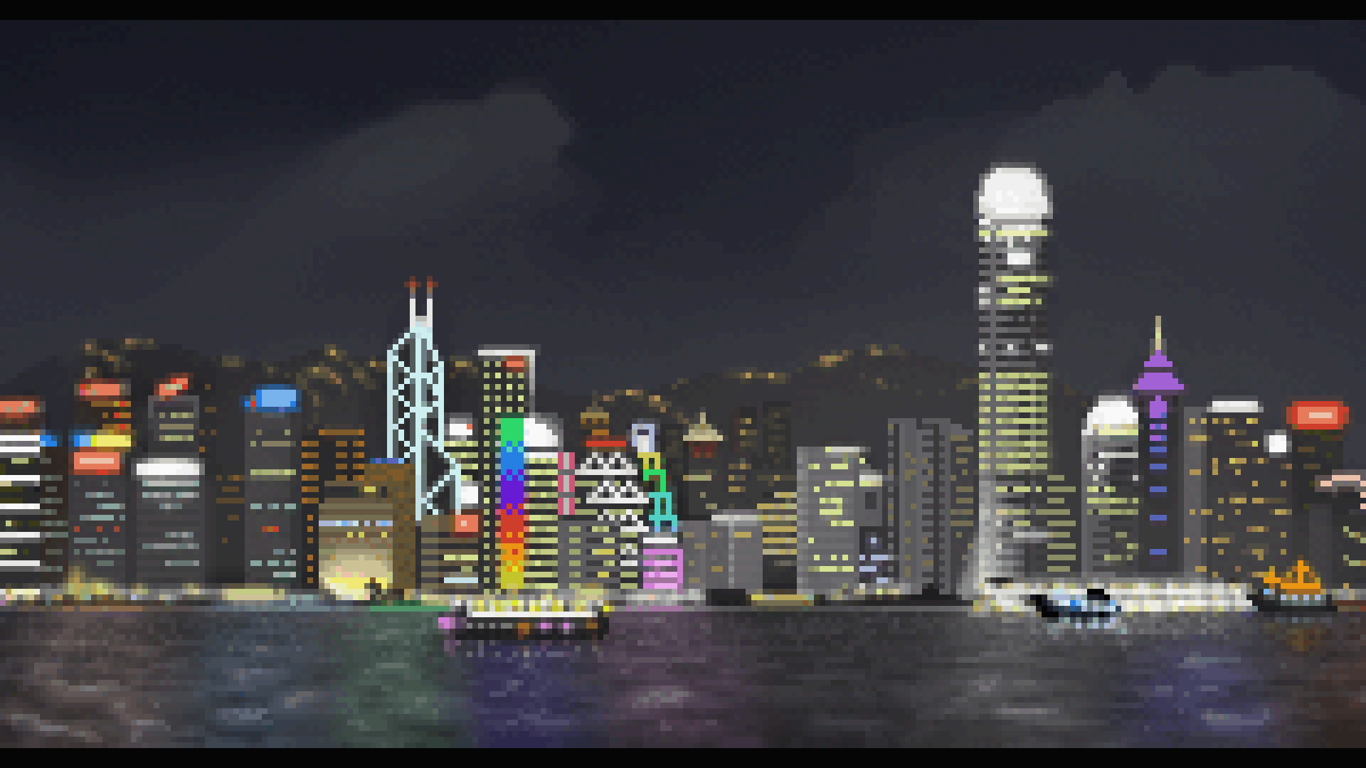 Hong Kong in pixels